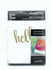 Watercolor Cards - 6 each  - Hello & Thank You - Paint w/Watercolor & Envelopes