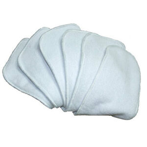 10 Microfibre Inserts Liners for Baby Cloth Nappies - Absorbent & Breathable