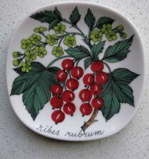 "Arabia Finland Ribes Rubrum Esteria Tomula Design 4 3/4"" Wall Plate 1984-1986"