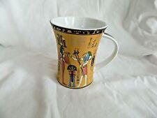 Egyptian Porcelain Mug Collectible King Tut Scribe Black Gold Pink # 4028 Sale!!