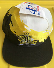 NWT Vintage 90s Memphis Riverkings Logo Athletic Splash Paint Snapback Cap Hat