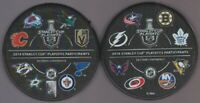 2019 ALL 16 TEAM LOGOS NHL STANLEY CUP PLAYOFFS PUCK St LOUIS BLUES CHAMPIONS