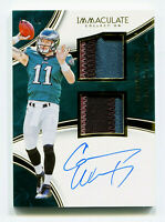 CARSON WENTZ 2016 Panini Immaculate Rookie RC Auto Dual Jersey Patch AU SP 18/49