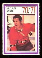 1970-71 ESSO POWER PLAYERS NHL #15 CLAUDE LaROSE EX+ CANADIENS UNUSED STAMP