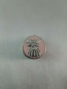 Tiny Pink and Silver Tone Children's Keepsake Tooth Fairy Box Round Container