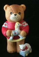 Lucy & Me Bear Toy Rocking Horse & Lamb Enesco 1984 Lucy Rigg