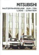 Truck Brochure - Mitsubishi - L300 Canter series GERMAN prospekt c1989 (T2257)