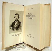 DOBROLIOUBOV (Nikolaï). Textes philosophiques choisis - 1956