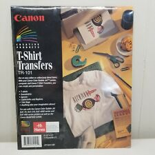 Canon T Shirt Transfers TR 101 10 Sheets New Craft