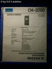 Sony Service Manual CM D200 Telephone (#6733)