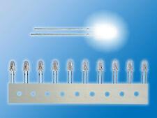 10x NICHIA LEDs bedrahtet   5mm   Weiß   Ultrahell   NSPW500DT