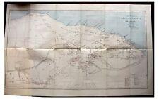 1897 Cowper - TRIPOLI - Libya - ANCIENT RUINS - Wadis - LARGE COLOR MAP - 6