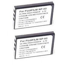 TWO 2 NP-60 Batteries for Fuji FujiFilm FinePix 50i F401 F410 F601
