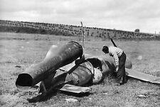 WW2 - Aviation - Photo - Missile V1 allemand accidenté