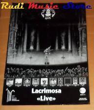 POSTER metal PROMO LACRIMOSA LIVE 84 X 59,5 cm NOcd dvd vhs lp live mc
