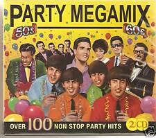 PARTY MEGAMIX 50's & 60's 2 CD BOX SET NON STOP MUSIC