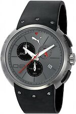 NEW PUMA PU102671002 BLACK CHRONOGRAPH TITANIUM WATCH HERO L