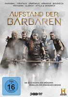 AUFSTAND DER BARBAREN - GESCHICHTE DER GRÖßTEN REBELLEN 3 DVD NEU