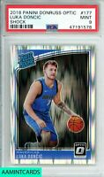 2018 PANINI DONRUSS OPTIC Luka Doncic SHOCK!! #177 ROOKIE RC PSA 9 MINT