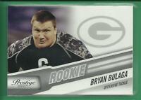 Bryan Bulaga RC 2010 Panini Prestige Rookie Card Green Bay Packers Football NFL