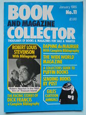 BOOK & MAG'  COLLECTOR  No 11 JAN. 1985 - DU MAURIER/GILES/DICK FRANCIS