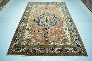 Turkish antique Vintage Rug 5x8,Old Handmade Diningroom Rug Carpet,Low Pile Rug