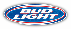 Bud Light Beer Logo Grunge Car Bumper Sticker Decal - 3'', 5'', 6'' or 8''