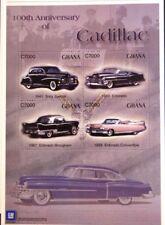 Ghana 2003 3565-68 Bloc 452 2377 79 Cadillac automobile vintage cars voitures Neuf sans charnière