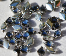(50 beads) Czech Glass Two Hole Beads: GemDuo® Backlit - Periwinkle #26901