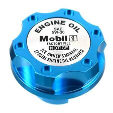 Blue Mobil 1 5W-30 Billet Anodized Oil Cap Filler Fits GM Chevy Buick Cadillac