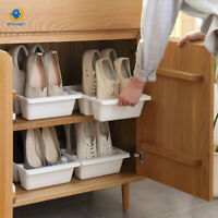Simple Home Three Shoes Racks Plastic Japanese Shoe Storage Box Space Saver