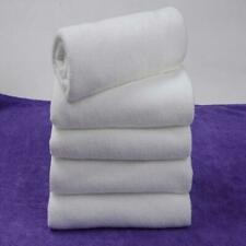 5Pcs White Microfiber Soft Hotel Travel Bath Shower Towel Hand Towel Washclothes