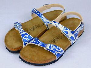 Birkenstock Birkis Blue White Slingback Women's Sandals Size 39 5,5 250 Germany