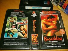 VHS *BREATHLESS* 1983 Pre Cert RARE Australian Roadshow First Issue Adult Drama!