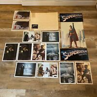 RARE Superman the Movie 1978 Poster & Photo LOT Commercial Christopher Reeve