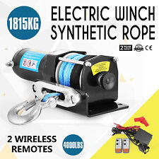 Wireless 4000LBS / 1815KG 12V Electric Steel Cable Winch Boat ATV 4WD Trailer