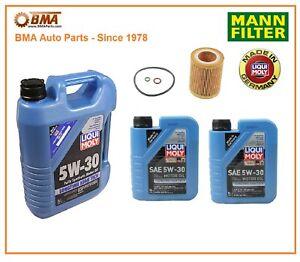 BMW 325 328 330 335 06-16 Complete OEM Oil Change Kit Mann LiquiMoly HU816x 5W30