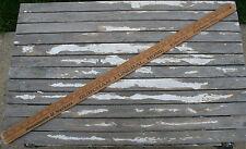 Vintage Wooden Advertising Yardstick Burcham Funeral Home Art Craft Fairborn Oh.