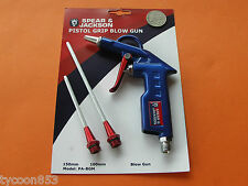 "PNEUMATIC AIR BLOW GUN CAST ALLOY BODY 1/4"" BSP INLET SPEAR & JACKSON"
