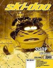 Ski-Doo service shop manual 2000 FORMULA DELUXE 380/500/500 LC & 2000 MX Z 440