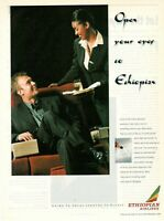 1999 Original Advertising' Vintage Ethiopian Airlines Open Your Eyes To