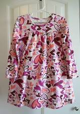 Girls  Sz 110 US 5 Hanna Andersson Dress Hearts Pink Coral White Playdress