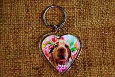 Clumber Spaniel Gift Keyring Dog Key Ring heart shaped gift Valentine