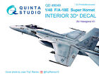 Quinta QD48049 1/48 F/A-18E 3D-Printed coloured interior for Hasegawa kit