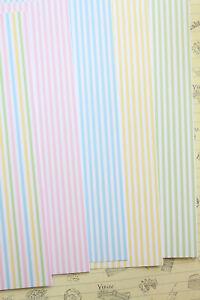 Mini Pastel Stripes Gingham Card Stock 250gsm check pattern journaling cardstock