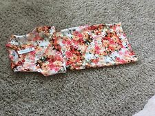 Miss Posh Floral Cut Out Dress Size M/L Uk 12 New With Tags Hols 6/10 To 17/10
