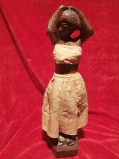 Africaine Art bois ébène? sculpture femme Afrique Figurine 32 cm rare