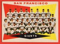1960 Topps #151 San Francisco Giants Team EX+ Wrinkle Willie Mays Cepeda