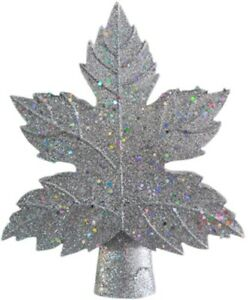 Christmas Tree Topper Lighted Leaf Tree Topper with LED Snowflake Projector