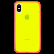 Case-Mate Tough Clear Protective Case for iPhone X/XS - Yellow/Pink Neon